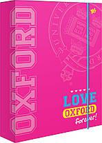 """Папка для тетрадей картонная В5 """"Oxford"""" розовая, 491291, 1 Вересня"""