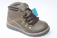 """Демисезонные ботинки для мальчика (д0231) ТМ """"Солнце"""" (оливковый) р-ры 25-30"""