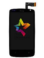 Дисплей для мобильного телефона HTC Desire 500/506e/Z4, черный, с тачскрином