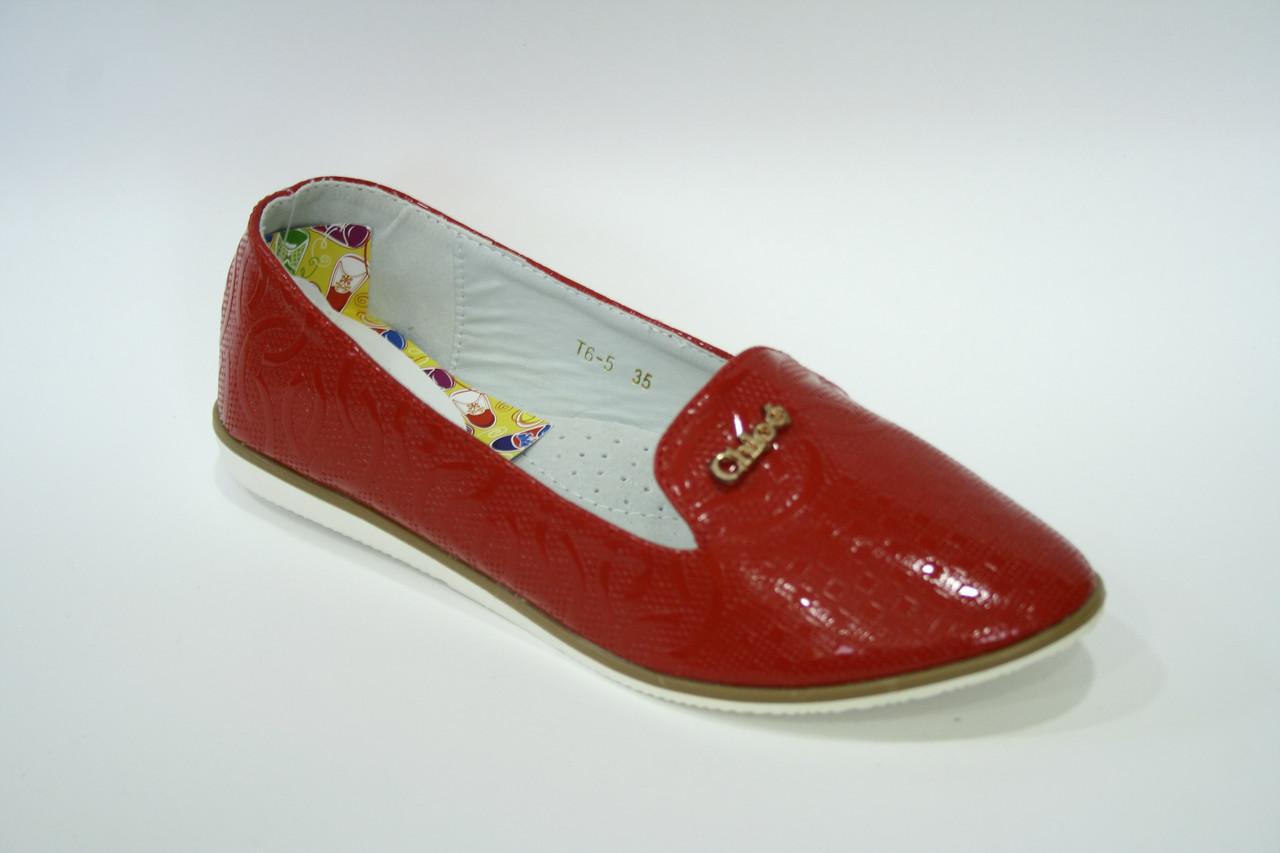 Туфлі дитячі червоні