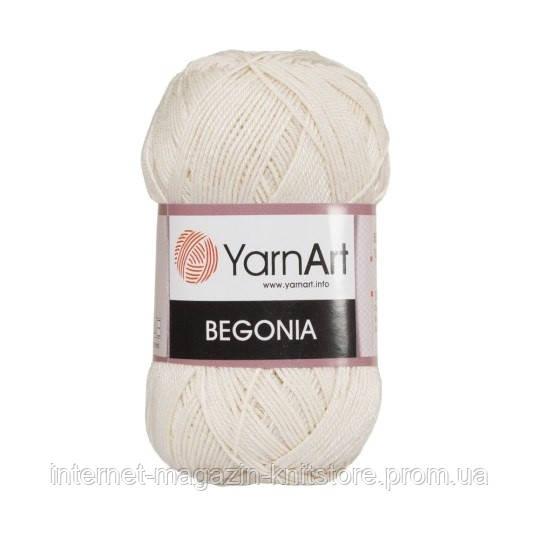 Пряжа YarnArt Begonia молочный