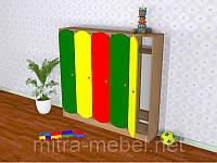 Шкаф детский пятисекционный цветной (1521*270*1250h)