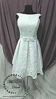 Короткое свадебное платье белое