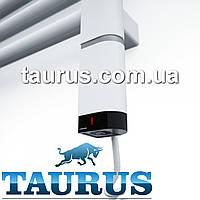 Белый ТЭН для полотенцесушителя D-профиль 30х40: регулятор +таймер, под пульт ДУ. Индикация. Польша
