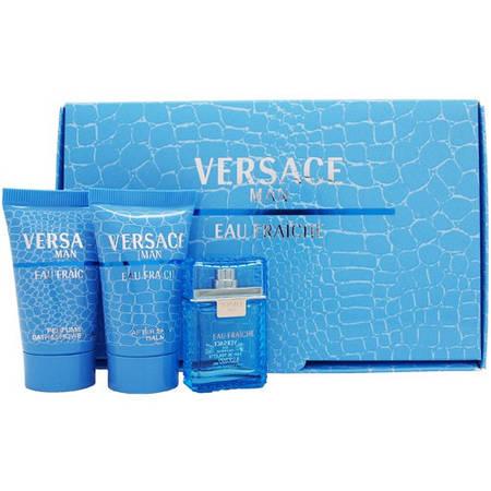 Набор Versace Man Eau Fraiche (туалетная вода 50 мл+бальзам после бритья 50 мл+гель д/душа)