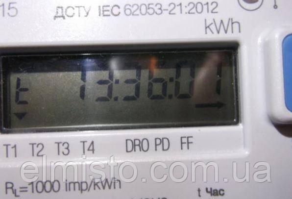Счетчик электроэнергии Iskra ME162 - информация про время без подсветки дисплея