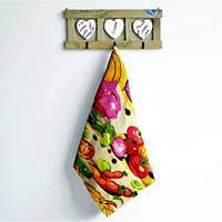Вафельная ткань кухонное полотенце Дары осени