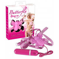 Интимная игрушка вибробабочка Butterfly Strap On