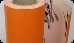 Матовая пленка оранжевая структурный мат