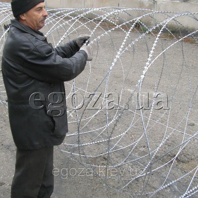 Егоза Супер 1700/9 спиральная проволока колючая