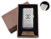 """USB + газовая зажигалка в подарочной упаковке (спираль накаливания, острое пламя) """"Chanel"""" №4819-4"""