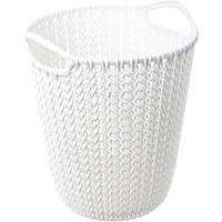 Корзина для бумаги Curver Knit 10 л белая