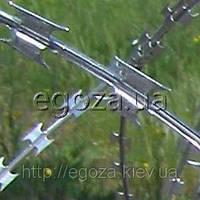 Гюрза 400/3 спиральная колючая проволока