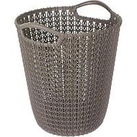 Корзина для бумаги Curver Knit 10 л коричневая