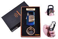 """USB зажигалка-брелок в подарочной упаковке + Фонарик/Карабин """"Honest"""" (Спираль накаливания) №4865-2"""