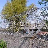 Колючая проволока Егоза Кайман 500/5 спиральный барьер СББ, фото 1