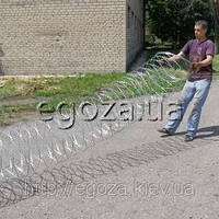 Колючая проволока Егоза Кайман 500/5 спираль, фото 1