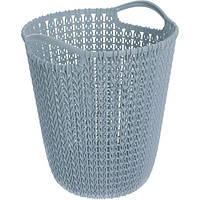 Корзина для бумаги Curver Knit 10 л синяя