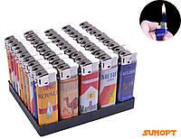"""Зажигалка пластиковая (Обычное пламя) """"Сигаретные бренды"""" №088-28"""
