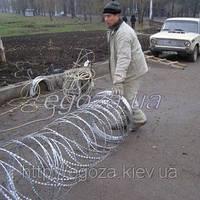 Егоза Аллигатор 800/7 спиральное ограждение из колючей проволоки