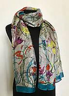 Шелковый женский шарф