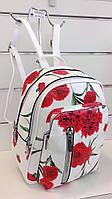 Модный молодежный рюкзак с весенним принтом