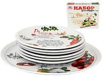 Набор тарелок для пиццы Napoli Оливки, блюдо Ø30см и 6 тарелок Ø20см