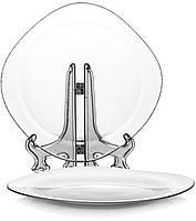 Квадратное блюдо Invitation 31х31см стеклянное