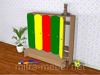 Шкаф детский пятисекционный славкой цветной (1520*300*1400h)