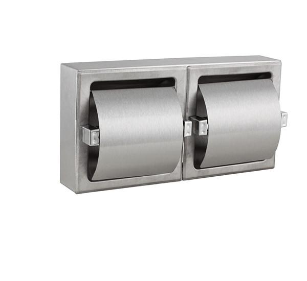 Встраиваемый держатель рулонов туалетной бумаги двойной