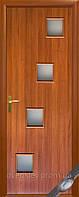 Дверь межкомнатная Ронда экошпон венге, дуб жемчужный, кедр, сандал, ясень патина