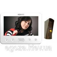Комплект (Видеодомофон KENWEI KW-E706C WHITE+ Видеопанель KW-139MCS)