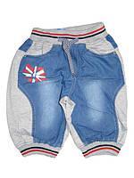 Джинсовые комбинированные бриджи для мальчиков,  Nice Wear, размер 134, арт. GC-1551