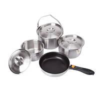 Набор туристической посуды Kovea All-3PLY Stainles Cookware(7~8) KKW-CW1105, фото 1