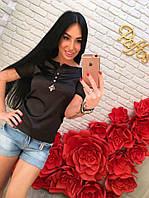 Женская футболка с украшением DB-3451