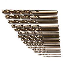 Doersupp 15 шт./компл. HSS-CO 1.5-10 мм. Высокая cкорость. Сталь M35. Кобальт. Спиральное сверло 40-133 мм