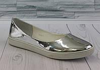 Балетки Серебро зеркало. 0844