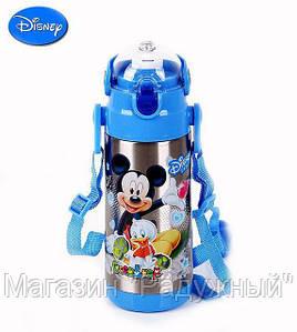 Термос zk g 604 500ml. Blue (50).Детский вакуумный термос с трубочкой поилкой.