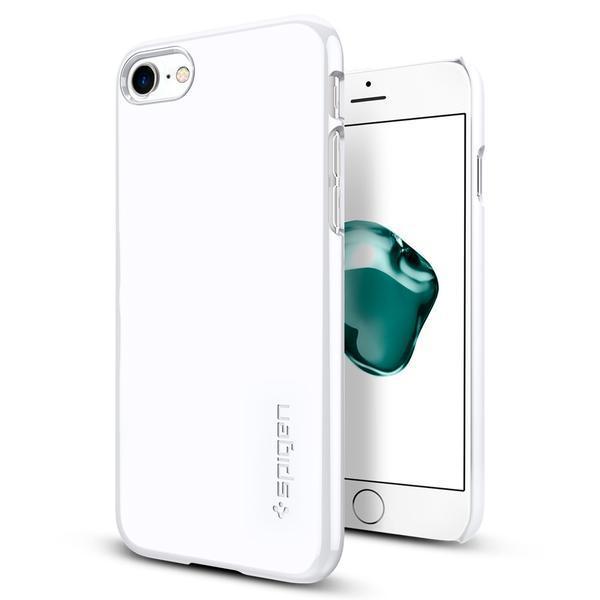 Чехол Spigen для iPhone 8 / 7 Thin Fit, Jet White, фото 1