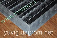 Грязезащитная решетка,  «ЛЕН» резина+щетка 1200х700мм. Наружное обрамление
