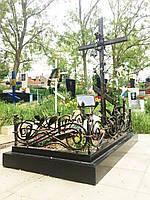 Кований хрест з розой