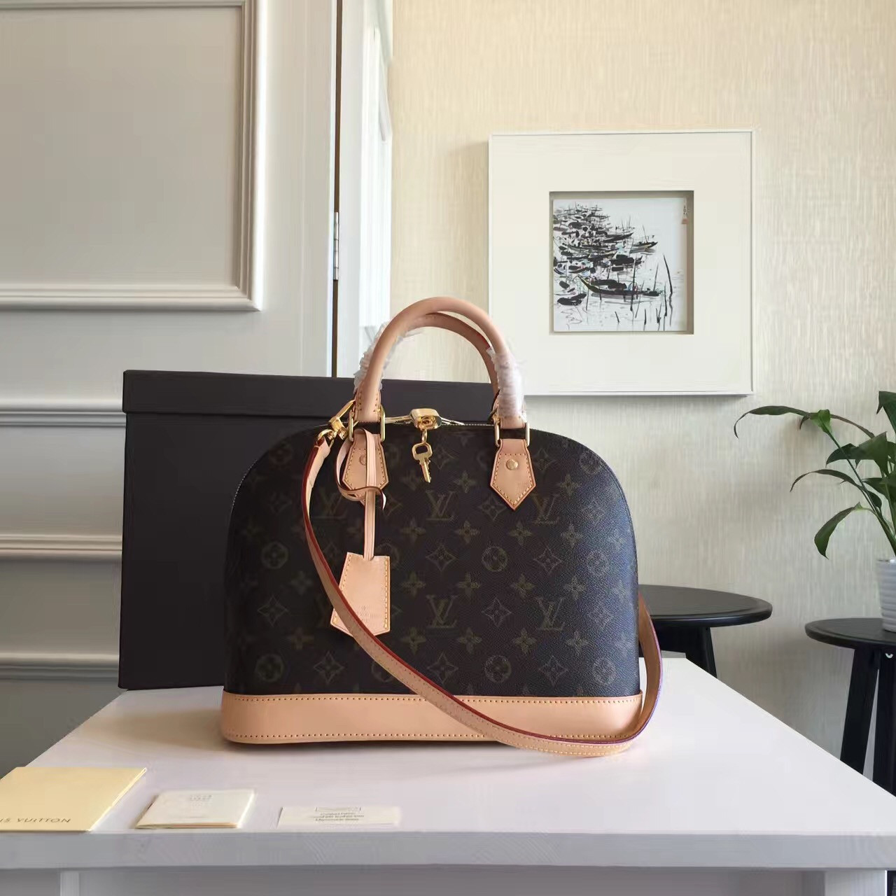 18a42f95703b Женская сумка Louis Vuitton Alma Monogram, цена 6 900 грн., купить в ...