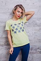 Красивая женская футболка со звездами