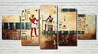 """Модульная картина """"Древний Египет"""" масло, холст!"""