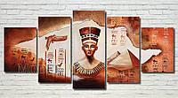 """Модульная картина """"Клеопатра и пирамиды"""" масло, холст!"""