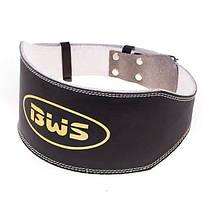 """Пояс штангіста BWS L.B.6""""(PU) широкий B15024 чорний"""