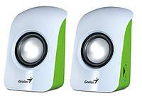 Колонки 2.0 Genius SP-U115 White USB / 2х0,75Вт / 200-18000Hz / пластик / mini-jack 3.5 / управление сбоку