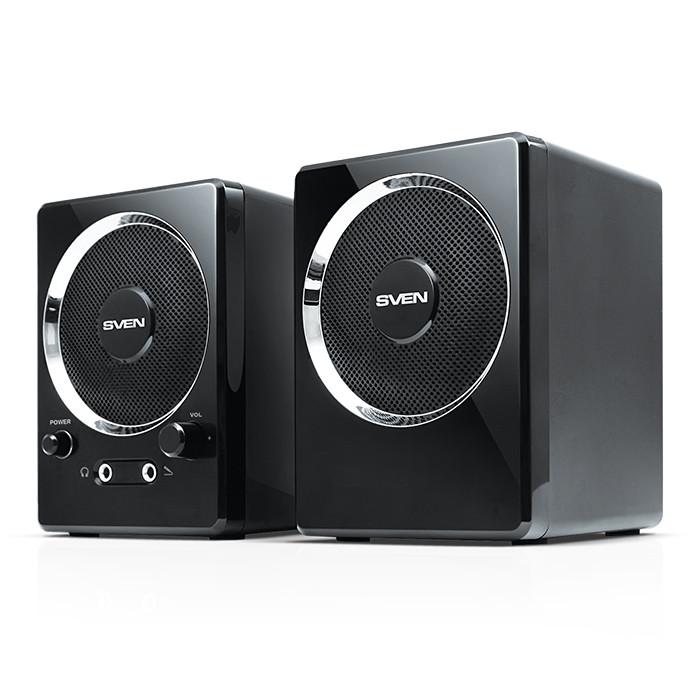 Колонки 2.0 Sven 247 Black USB / 2x2Вт / 90-20000Hz / пластик / mini-j