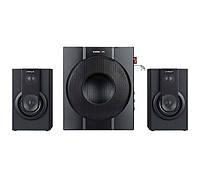 Колонки 2.1 Crown CMS-3708 Black / Sub: 16Вт, Sat: 2x7Вт / 35-20000Hz / пластик / mini-jack 3.5 / управление сбоку / USB / SD