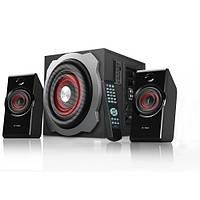 Колонки 2.1 F D A530U Black / Sub: 20Вт, Sat: 2x16Вт / 20-20000Hz / МДФ / RCA /  USB ридер, кардридер, USB, FM-тюнер